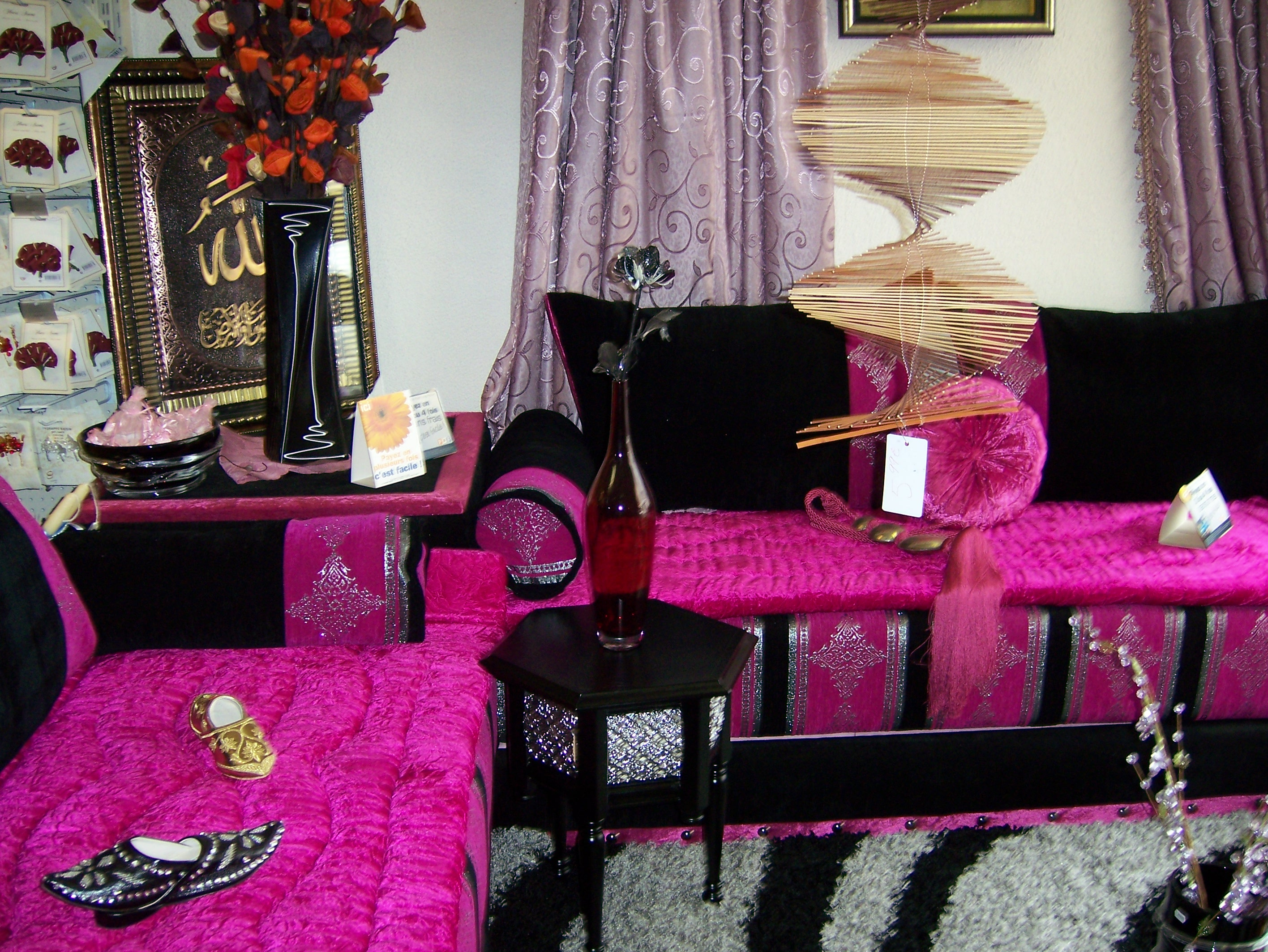 pin salon marocain 2 banquette de 2m 1 coin accoudoir mousse on pinterest. Black Bedroom Furniture Sets. Home Design Ideas