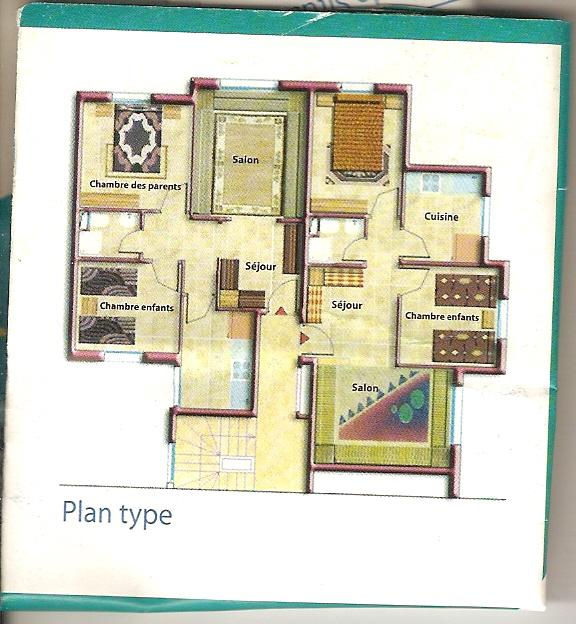 plan appartement maroc. Black Bedroom Furniture Sets. Home Design Ideas