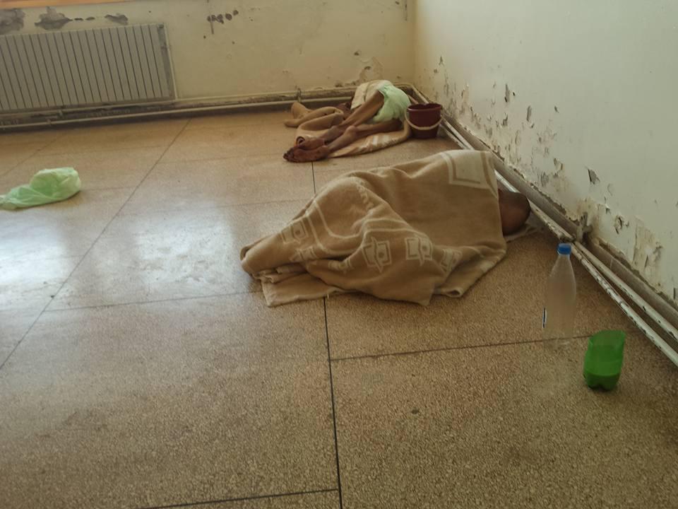 Photos prises à l'hôpital de Khénifra : Les trois personnes âgées on