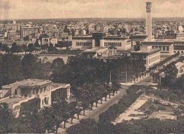 Le boulevard Gouraud et les bâtiments administratifs de Casablanca en 1920. /DR